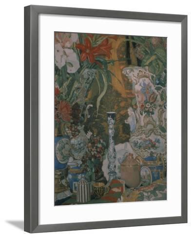 Still Life. Flowers and Porcelain, 1912-Alexander Yakovlevich Golovin-Framed Art Print