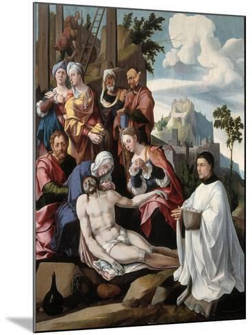 The Lamentation over Christ with a Donor, C.1535-Jan van Scorel-Mounted Giclee Print