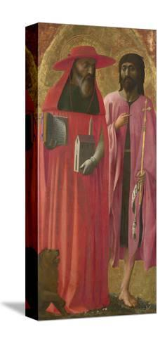 Saints Jerome and John the Baptist, Ca 1428-1429-Masaccio-Stretched Canvas Print