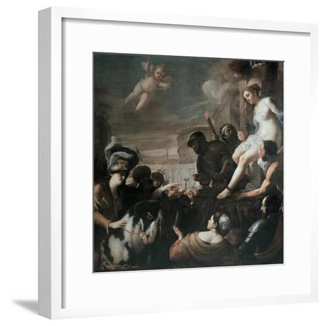 Clorinda Rescues Olindo and Sophronia, 1645-Mattia Preti-Framed Art Print