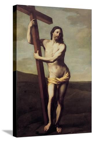 Christ Embracing the Cross-Guido Reni-Stretched Canvas Print