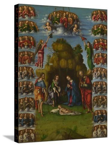 The Adoration of the Shepherds with Angels, 1499-Lorenzo Costa-Stretched Canvas Print