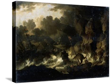 Stormy Sea, 17th Century--Stretched Canvas Print