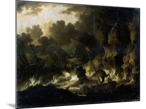Stormy Sea, 17th Century--Mounted Giclee Print