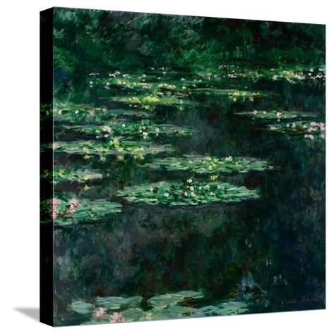 The Water Lilies (Les Nymph?a)-Claude Monet-Stretched Canvas Print