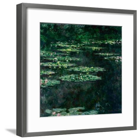 The Water Lilies (Les Nymph?a)-Claude Monet-Framed Art Print