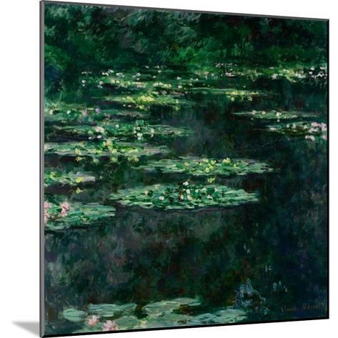 The Water Lilies (Les Nymph?a)-Claude Monet-Mounted Giclee Print
