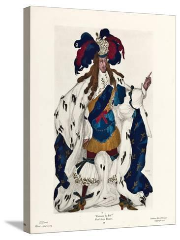 King. Costume Design for the Ballet Sleeping Beauty by P. Tchaikovsky, 1921-L?on Bakst-Stretched Canvas Print