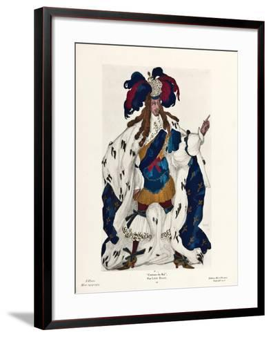 King. Costume Design for the Ballet Sleeping Beauty by P. Tchaikovsky, 1921-L?on Bakst-Framed Art Print