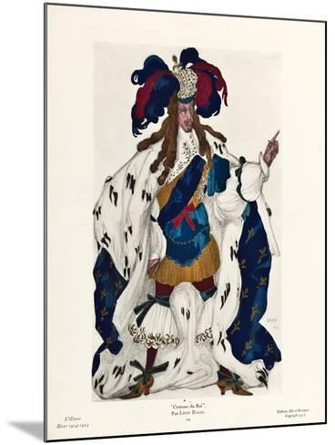 King. Costume Design for the Ballet Sleeping Beauty by P. Tchaikovsky, 1921-L?on Bakst-Mounted Giclee Print