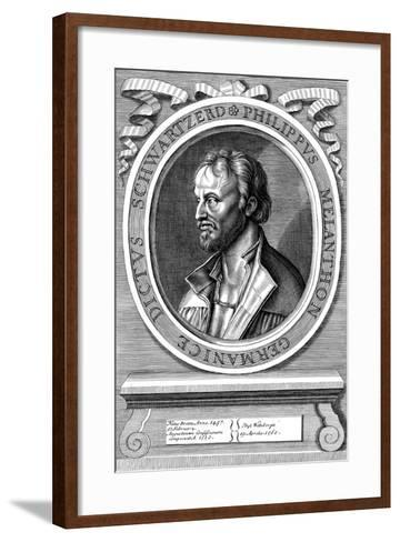 Philip Melanchthon the German Protestant Reformer, C18th Century-Hans Holbein the Younger-Framed Art Print