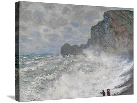 Rough Weather at Étretat, 1883-Claude Monet-Stretched Canvas Print