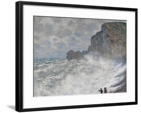 Rough Weather at Étretat, 1883-Claude Monet-Framed Art Print