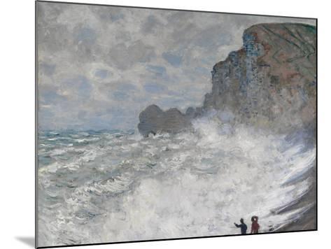 Rough Weather at Étretat, 1883-Claude Monet-Mounted Giclee Print