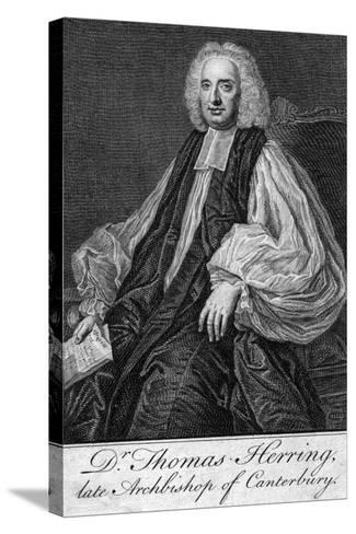 Thomas Herring (1693-175), Archbishop of Canterbury--Stretched Canvas Print