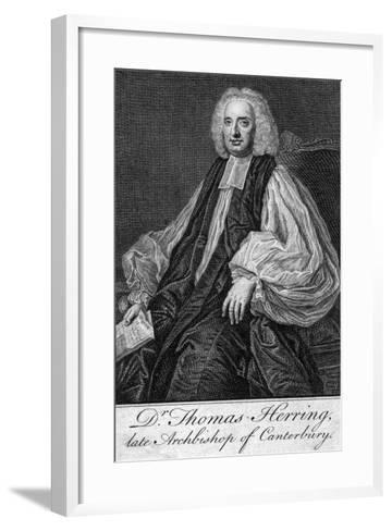 Thomas Herring (1693-175), Archbishop of Canterbury--Framed Art Print