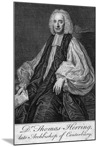 Thomas Herring (1693-175), Archbishop of Canterbury--Mounted Giclee Print