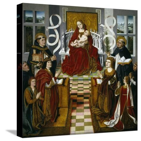 The Madonna of the Catholic Monarchs, 1491-1493--Stretched Canvas Print