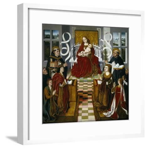 The Madonna of the Catholic Monarchs, 1491-1493--Framed Art Print