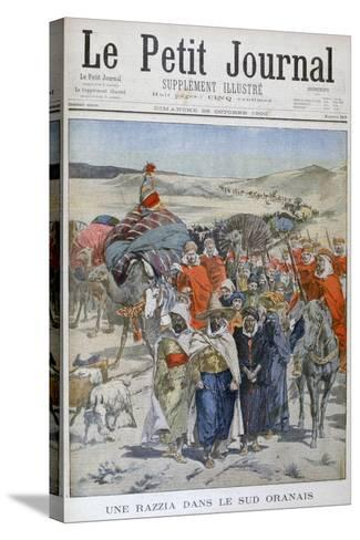 A Round Up in Southen Oranais, Algeria, 1900--Stretched Canvas Print