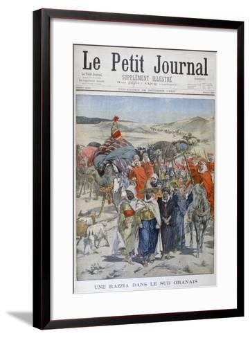 A Round Up in Southen Oranais, Algeria, 1900--Framed Art Print