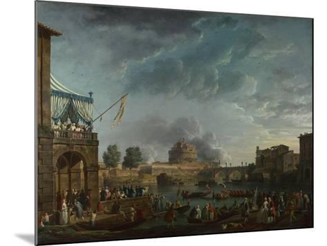 A Sporting Contest on the Tiber at Rome, 1750-Claude Joseph Vernet-Mounted Giclee Print