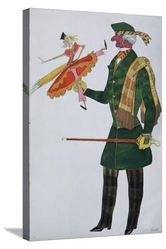 Englishman. Costume Design for the Ballet the Magic Toy Shop by G. Rossini, 1919-L?on Bakst-Stretched Canvas Print