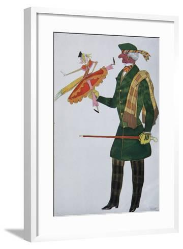 Englishman. Costume Design for the Ballet the Magic Toy Shop by G. Rossini, 1919-L?on Bakst-Framed Art Print