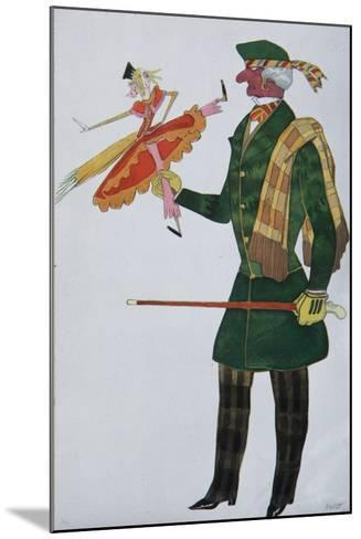 Englishman. Costume Design for the Ballet the Magic Toy Shop by G. Rossini, 1919-L?on Bakst-Mounted Giclee Print