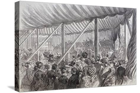 Queen Victoria Opening Blackfriars Bridge, London, 1869--Stretched Canvas Print