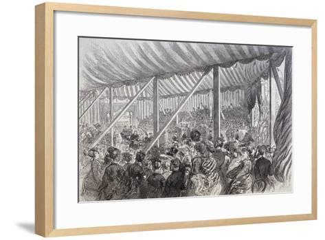 Queen Victoria Opening Blackfriars Bridge, London, 1869--Framed Art Print