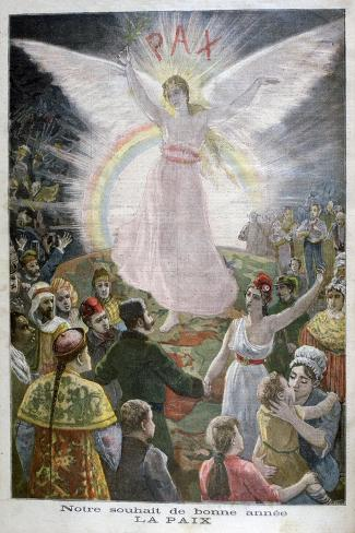 Our Hope for the New Year: Peace, 1894--Stretched Canvas Print
