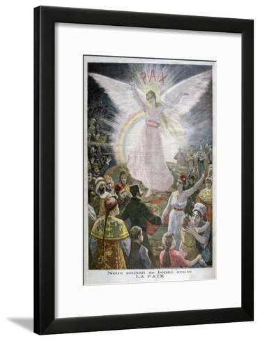 Our Hope for the New Year: Peace, 1894--Framed Art Print