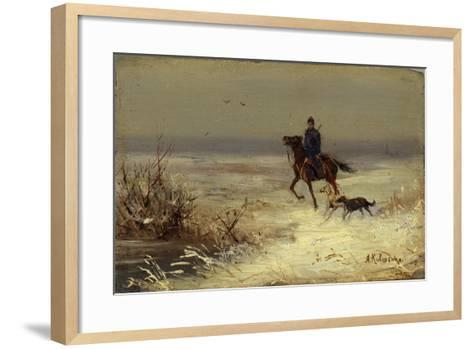 On the Hunting, Second Half of the 19th C-Alexei Danilovich Kivshenko-Framed Art Print