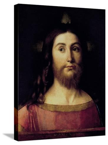 Saviour of the World-Giovanni Bellini-Stretched Canvas Print