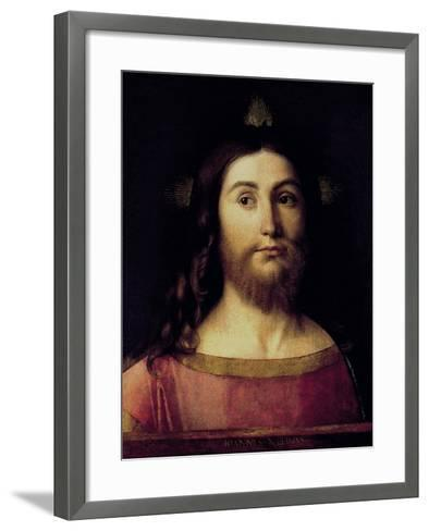 Saviour of the World-Giovanni Bellini-Framed Art Print