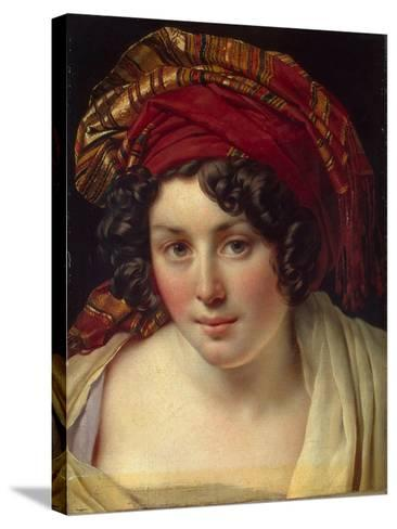 Head of a Woman in a Turban, Ca 1820-Anne-Louis Girodet de Roussy-Trioson-Stretched Canvas Print