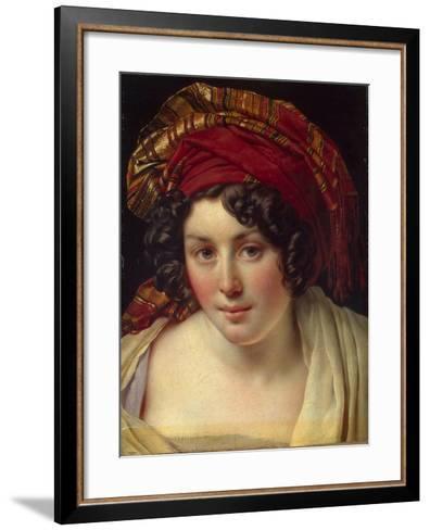 Head of a Woman in a Turban, Ca 1820-Anne-Louis Girodet de Roussy-Trioson-Framed Art Print
