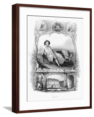 Johann Wolfgang Von Goethe, German Poet, Dramatist and Scientist, C1860--Framed Art Print