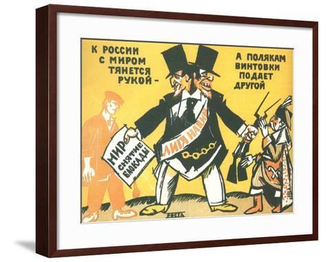 League of Nations (Rosta Windo), 1920-Ivan Andreevich Malyutin-Framed Art Print