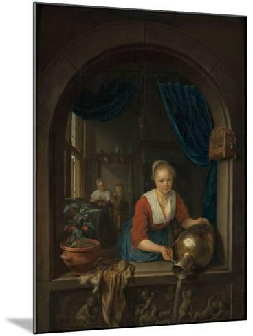 Maid at the Window, C. 1660-Gerard Dou-Mounted Giclee Print