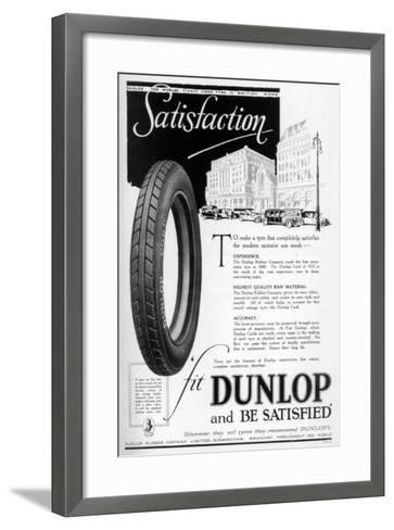 Dunlop Advertisment, 1923--Framed Art Print