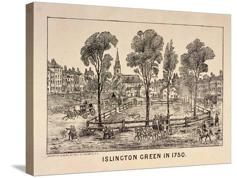 Islington Green, London, 1750-C Read-Stretched Canvas Print
