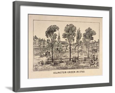 Islington Green, London, 1750-C Read-Framed Art Print