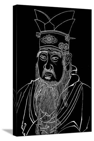 Confucius (551-479 B), Chinese Philosopher--Stretched Canvas Print