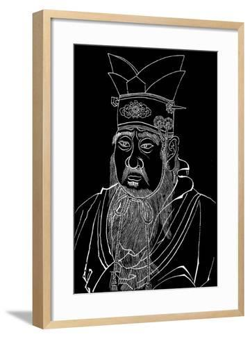 Confucius (551-479 B), Chinese Philosopher--Framed Art Print