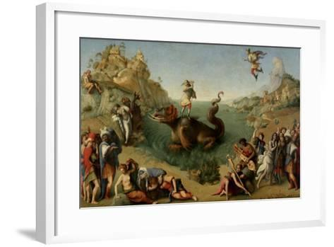 Andromeda Freed by Perseus, 1510-1515-Piero di Cosimo-Framed Art Print