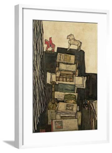 Still Life with Books, 1914-Egon Schiele-Framed Art Print