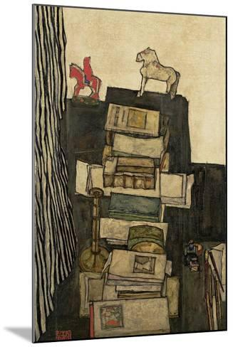 Still Life with Books, 1914-Egon Schiele-Mounted Giclee Print