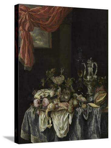 Sumptuous Still Life, 1654-Abraham Hendricksz van Beijeren-Stretched Canvas Print